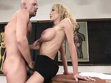 Blonde tranny sucks a dick and fucks her handsome stud