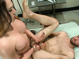 Bald dude gets his ass examined by his tranny doctor