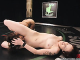 Redhead cutie wants to fuck her ebony girlfriend in the ring