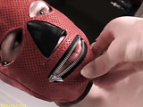 Curvy piss slave with face mask gets whipped by her master.