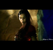 Long haired slender Indian model showing her sex appeal in this scene