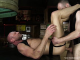 British top's raw dick humps a perfectly rimmed american ass for a leathery ass fucking session
