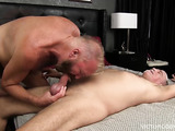 Two big daddies exchanging blowjobs and ass licking before staring a harcore assfucking session