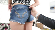jean shorts wearing slut