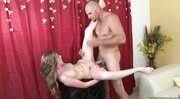 slutty blonde gets bent