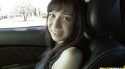 attractive brunette wearing black