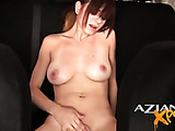 She fucks herself in a car and shows how hungry for a good fuck she is