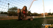 this hot blonde plays