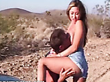 Horny brunette gets fucked and squirts to satisfaction on a car.