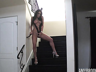 black slings and high-heels