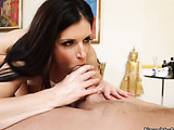 Dark haired attractive woman getting the dick instead of massage for relaxing