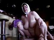 busty granny sucks cock