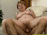 Big breasted mature slut gets her gaping cunt fucked by an aroused stud