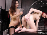 two beautiful girls shower themselves with their own warm urine
