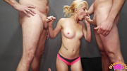 horny blonde with pink