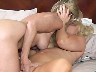 freckled blonde milf with