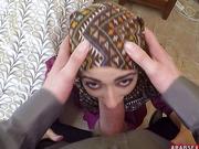 arabian chick blowing fat