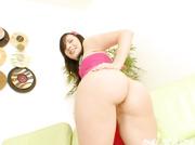 juicy ass brunette pink