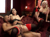 Busty brunette in corset and stockings fucked in the vintage room