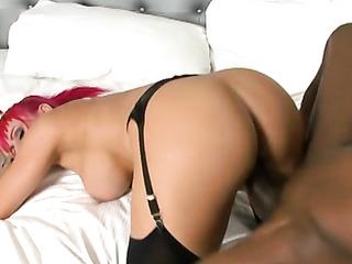 pinkhaired slut stockings rides