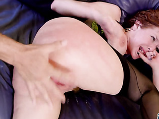 red bitch stockings and