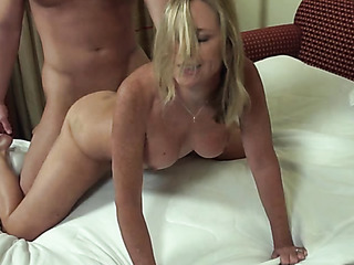 sexy blonde milf pink